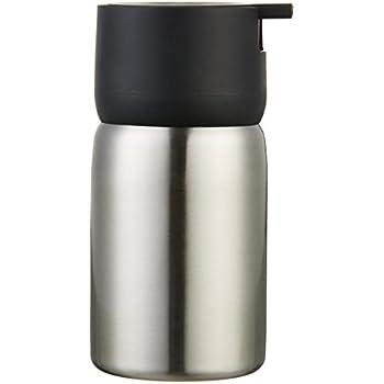 AmazonBasics Stainless Steel Soap Dispenser, Black