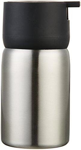 AmazonBasics - Dosificador de jabón, acero inoxidable, Negro