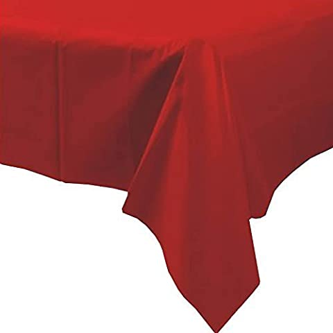 Plastic Disposable Party Tablecloth (Red) by party tableware