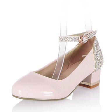 CH&TOU Da donna-Tacchi-Formale / Casual-Others-Quadrato-Finta pelle-Nero / Rosa / Bianco pink