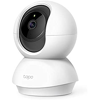 TP-Link Smart Cam Pan Tilt Home WiFi Camera   Wireless Indoor Security 360° 2MP 1080p (Full HD)   Up to 30 ft Night Vision   Up to 128 GB microSD Card Slot   Works with Alexa and Google (Tapo C200)