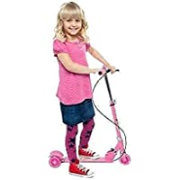 PERILA Road Runner Scooter for Kids of 3 to 14 Years Age 3 Adjustable Height, Foldable, LED PU Wheels & Weight Capacity…