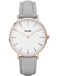 Cluse Damen-Armbanduhr Analog Quarz Leder CL18015
