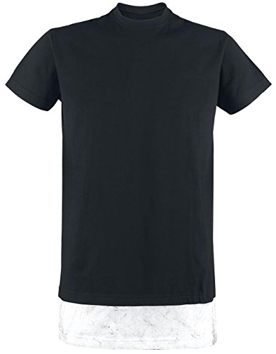 R.E.D. by EMP Layerlook Roundneck T-Shirt schwarz Schwarz