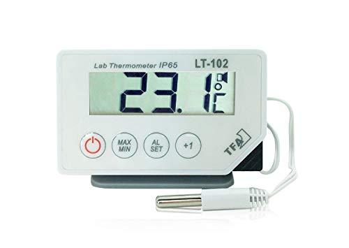 TFA Dostmann LT-102 Profi-Digitalthermometer, mit Kabelfühler, wasserdicht IP65 -