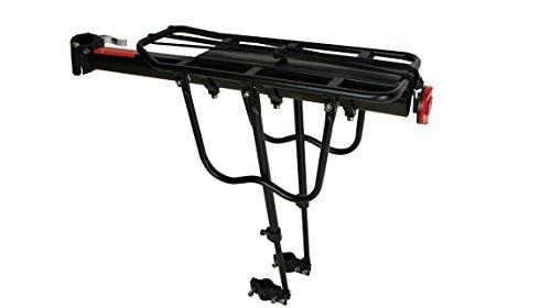 Universal Fahrrad Gepäckträger für hinten   Belastbarkeit: 50 kg   Aluminum Sattelstütze  Citybike Taschenträger   Mountainbike Gepäck Träger mit Schnellspanner   Farbe Schwarz   Fahrrad Zubehör