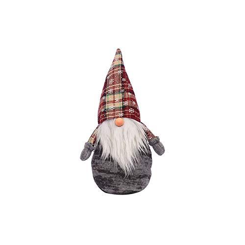 MarryoU Weihnachten Deko Doll Anhänger Weihnachts-Deko Mitgebsel Gastgeschenk Kinder Geburtstag Geschenkanhänger Festival Fenster Dekor (34cm, Grau)