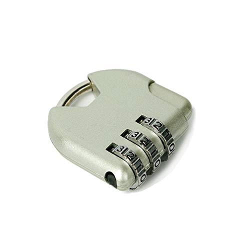 TSA Kofferschloss mit 3-stelligem Zahlencode - Zahlenschloss ideal für Koffer, Rucksack & Gepäck,Argento * 1 Pezzi
