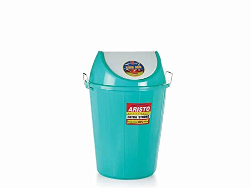 Aristo Swing Lid Garbage Waste Dustbin 32 Ltr (Green)