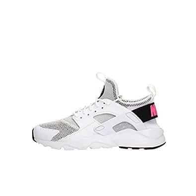 Nike Chaussures Femme AIR Huarache Run Ultra GS en Tissu Blanc