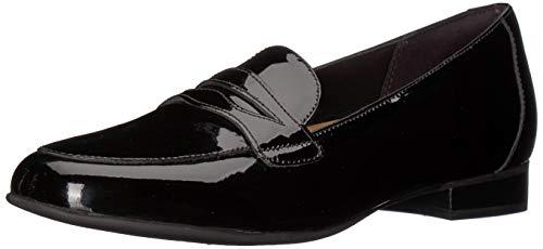 CLARKS Women's Un Blush Go Black Patent Leather 7.5 D US - Patent-penny Loafer