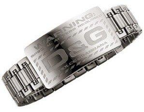 D&G Dolce&Gabbana Dolce & Gabbana Herrenarmband Edelstahl DJ