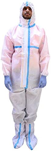 ORILEY ORPP04 SITRA & DRDO Approved PPE Kit with Coverall Suit, Hand Gloves & Shoe Cover Disposable Pe