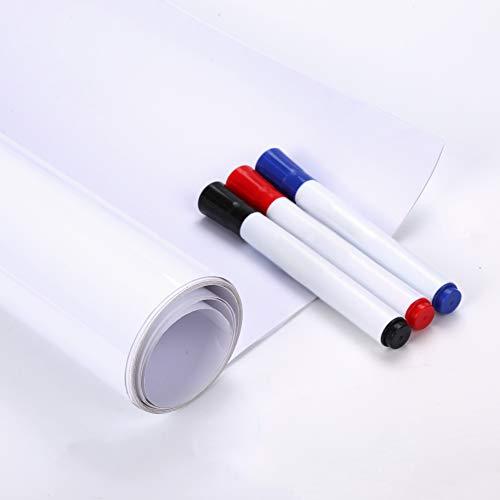 (Fancy-fix Riesige Selbstklebende WHITEBOARD-FOLIE Schreibtafel für Büro Sticker wiederverwendbar trocken abwaschbar weiß 120cm x 240cm)
