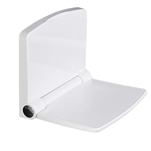 Dusch- & Badestühle Wandhocker Folding Shower Bench Folding Shower Bench Seat Badezimmer-Klapphocker Veranda Türwechsel Schuhbank Bad Dusche Wandmontage Sitz ( Color : Weiß , Size : 37.6*32.4cm ) -