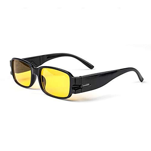Universal Männer Frauen Lesebrille Magnetotherapie Harz Objektiv Presbyopie Brillen Brillen Brillen Mit LED-Licht - Gelb