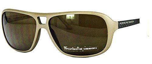 Porsche design - occhiali da sole - uomo beige beige - matt carbon medium
