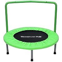 36-Zoll-Trampolin mit Handlauf Mini-Trampoline Portable Jogging Fitness Erwachsenen-und Kinder-Übung Ausrüstung Springen Bett preisvergleich bei fajdalomcsillapitas.eu