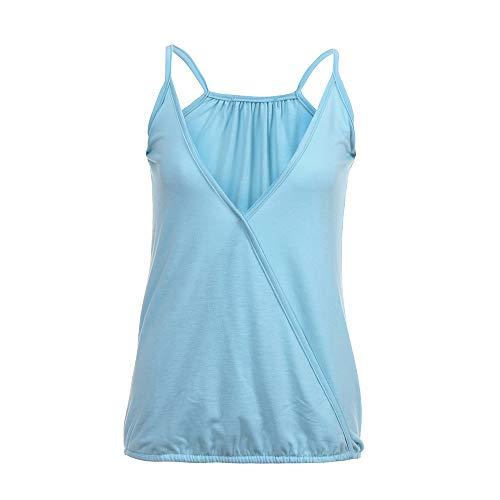 LEXUPE Damen Lose Sommer Flowy äRmellose Tanktops Plus GrößE T-Shirt(,X-Large)