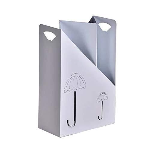 Schirmständer YXX Ständer für Canes Gehstöcke, Eingang Indoor-Regenschirm-Halter für Flur Balkon Büro Supermarkt Bank (Color : White)