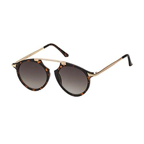 Sonnenbrille Retro Vintage Panto Brille 400 UV Metall Zwicker Form Bügel orange