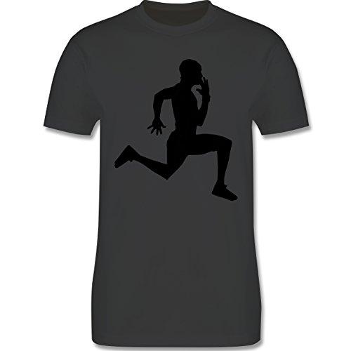 Laufsport - Läufer - Herren Premium T-Shirt Dunkelgrau