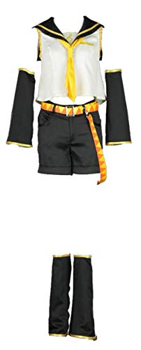 Chong Seng CHIUS Cosplay Costume Outfit Set for Kagamine Rin Outfit Version 1 (Vocaloid Halloween Rin)