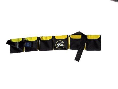 Tauchgurt mit Taschen Gelb gelb large       6 pockets  40''- 46''       ( 102-117cm )