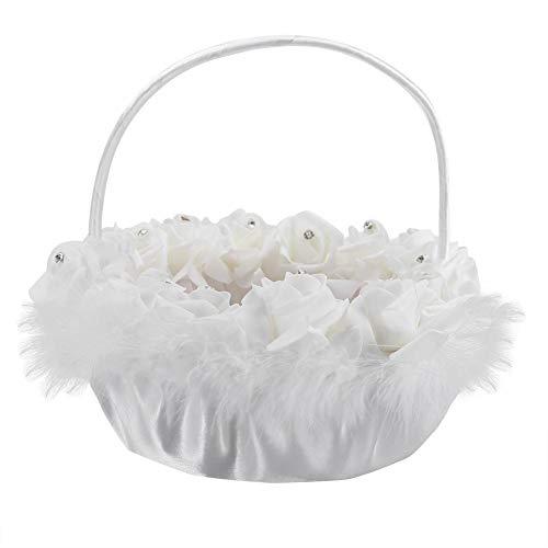 Matrimonio cesto di fiori candy pizzo con strass decor forniture nozze cestino romantico donna ragazze bianche