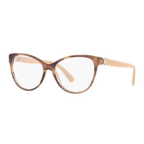 Bulgari BVLGARI Damen Sonnenbrille 0BV 4151 5240 54, Braun (Striped Brown)