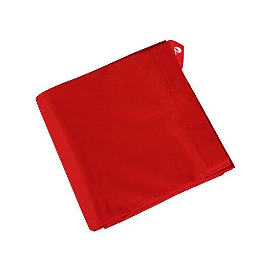 QSack Outdoorer Kindersitzsack Hülle ohne Füllung, Wechsel Bezug Kinder Sitzsack Outdoor 100 x 140 cm, Neu (rot)