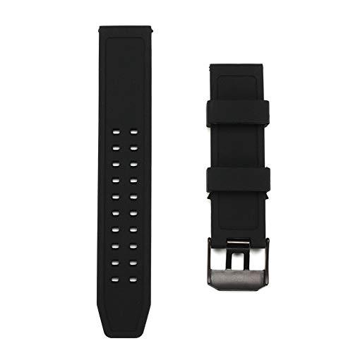 GCDN Correa de Reloj de Pulsera de Silicona Resistente al Agua for Luminox 23 mm de Ancho de orejeta...