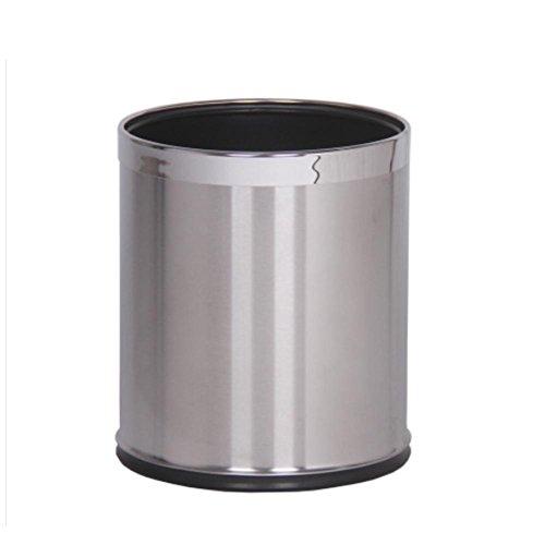 Mülltonnen Mülleimer Edelstahl Kein Deckel Mülleimer Doppelschicht Wohnzimmer Müllbehälter Kreativ Runder Form Müllbehälter Technische Daten 225 * 270mm stainless steel