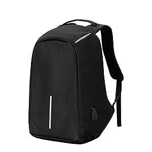 Mochila Antirrobo, 15.6 Mochila de Seguridad USB Mochila para Ordenador portátil,Mochila Impermeable de Colegio Viaje Negocios Regalo para Estudiantes/Hombre/Mujer (Azul marino1)