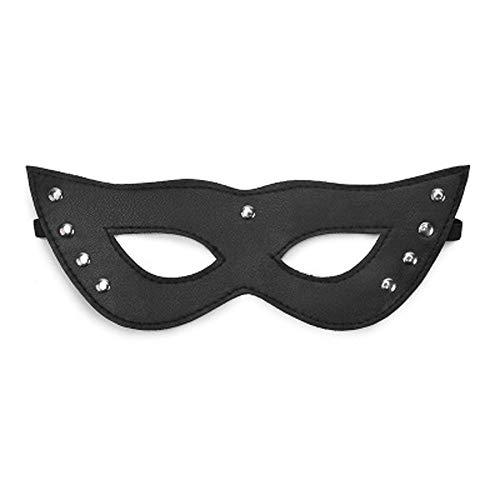 Wawer Coole Augenklappe Einstellbare Maske Eyeshade Spiel Maske Brille Tanzen Party Ledermaske Nachtclub Maske Cosplay Prop ()