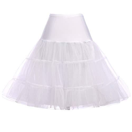 Paket Hüfte A-Linie Hoopless Braut Petticoat Hohe Taille Ausgestellt Tierrüschen Fischschwanz Krinoline Tutu Unterrock S-XL ()