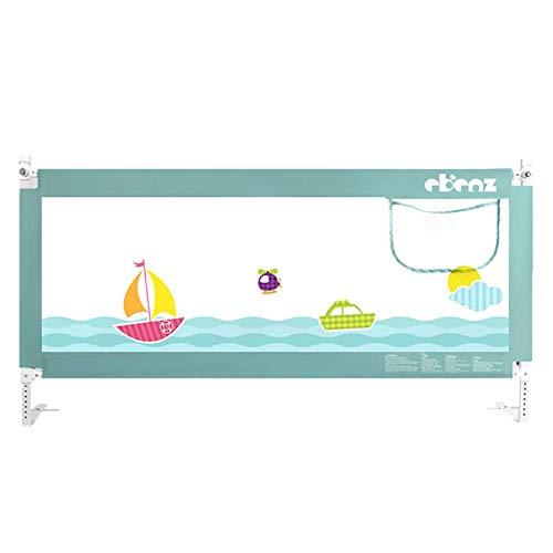 XUE Green Bettgitter Vertical Lift Bedrail Assist Extra Langer Schutzzaun, Gittergeländer für Baby und Boy,120cm