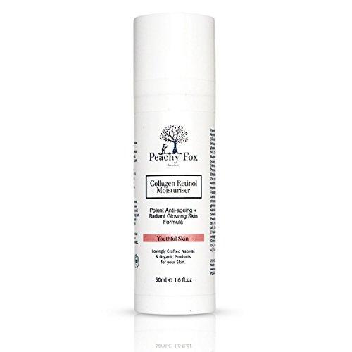 Spf 12 Gesichts-lotion (Organische Collagen Retinol Feuchtigkeitscreme - Kollagen & Hyaluronsäure angereichert Anti-Aging-Creme mit Retinol für Gesicht. Ein äußerst effektiver Tag oder Nacht Feuchtigkeitscreme. 100% Geld-zurück-Garantie - Made in UK)