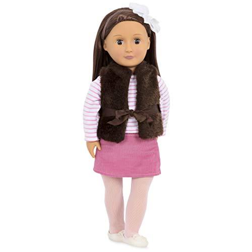 Our Generation 44271 - Sienna OG Puppe mit brauner Weste, 46 cm