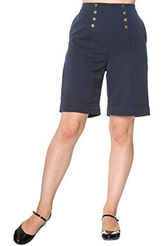 Banned Apparel Damen Short Navy