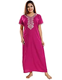 KuuKee Women s Full Length Premium Cotton Embroidery Nighty Style no.6226 ed1445406