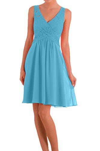 Victory Bridal - Robe - Crayon - Femme Bleu - Bleu ciel