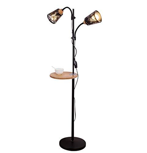 Lampadaire Lampadaire de style minimaliste moderne européen avec lampadaire à plateau (Couleur : Noir)