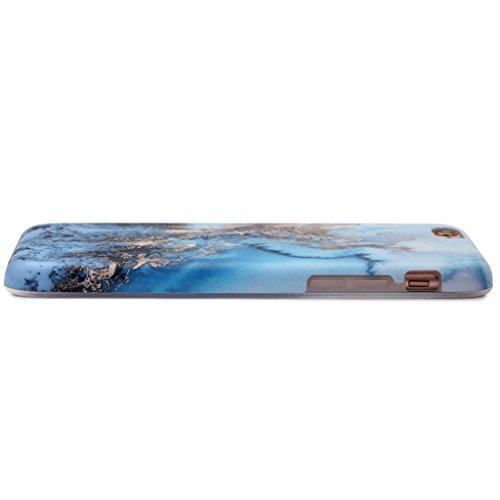 Schutzhülle für Apple iPhone 6 / 6S [Marmor / Marble] Design - Hard case cover Viele Varianten (Weiß - Marble) von Panelize C. & A. Blau Gold