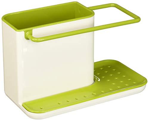 Joseph Joseph Caddy Ordnungshelfer für das Spülbecken, weiß/grün -