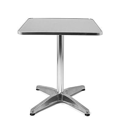 """'Bistro Tisch """"Stehtisch quadratisch Aluminium und höhenverstellbar, 60x 70/110cm, geeignet als Gartentisch, Tisch-Terrasse oder Balkon, durch Park Alley von Park Alley bei Gartenmöbel von Du und Dein Garten"""