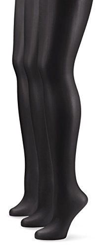 Nur Die Damen Strumpfhose 725949/3er Pack Transparent, 15 DEN, Gr. 44 (Herstellergröße: M (40-44)), schwarz (schwarz 094) (Strumpfhosen 3)