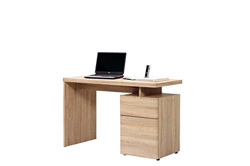 Jahnke CU-LIBRE 120 EI SÄGERAU Schreibtisch, E1 Spanplatte, Dekorbeschichtung, Metall, eiche sägerau nachbildung, 120 x 55 x 76 cm