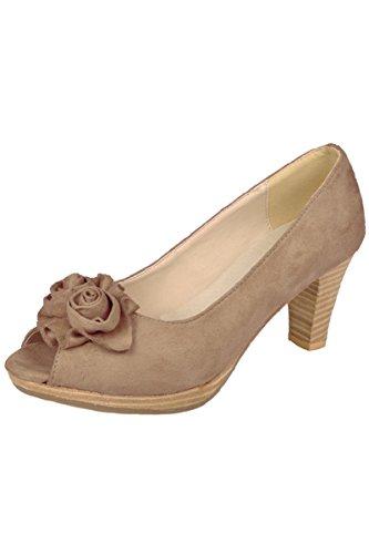 Ludwig und Therese Trachten Schuhe Lydia beige D500022 40