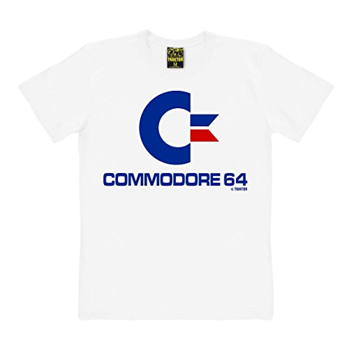 Commodore 64 Logo T-shirt for Men - White - XS to XXL